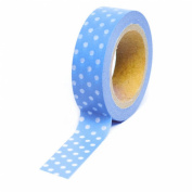 Dress My Cupcake Washi Decorative Tape for Gifts/Favours, Polka Dot, Blue