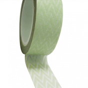 Dress My Cupcake DMC41WT002 Washi Decorative Tape for Gifts and Favours, Mint Green Chevron