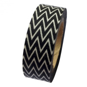 Dress My Cupcake DMC41WT1120 Washi Decorative Tape for Gifts and Favours, Classic Black Chevron