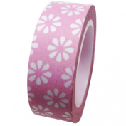 Dress My Cupcake DMC41WT969 Washi Decorative Tape for Gifts and Favours, Pink Daisy