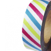 Dress My Cupcake DMC41WT654 Washi Decorative Tape for Gifts and Favours, Festive Birthday Stripes