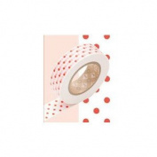 Japanese Washi Masking Tape - Dot Blood Orange Large Roll