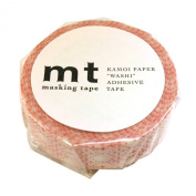 Japanese Washi Masking Tape -Scratch Pattern Red Large Roll