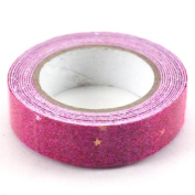 Glitter Tape - Magenta Sparkle with Stars By Reid Craft