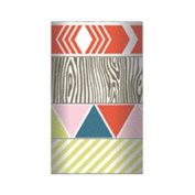 Cut & Paste Presh Decorative Tape 4 Rolls/Pkg-