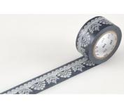 Japanese Washi Masking Tape - Black & White Lace