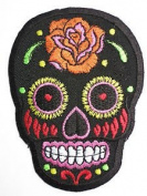 "Tribal Tattoo Rockabilly Biker Sugar Day Of Dead Skull Iron On Sew On Patch 3.5""/9.2cm x 2.6""/6.6cm By MNC Shop"