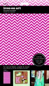 Sew Easy Industries 1-Sheet Solid Chevron Transfer, 14cm by 23cm , Pink/White