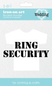 SEI 8.5cm by 13cm Ring Security Iron on Transfer, 1 Sheet