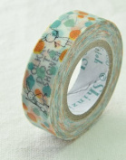 Shinzi Katoh Masking Tape -Sereno Polka Dot Shower