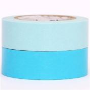 blue and turquoise mt Washi Tape deco tape set 2pcs