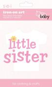 SEI 8.5cm by 13cm Little Sister Iron on Transfer, 1 Sheet