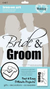 SEI 14cm by 23cm Bride and Groom Iron on Transfer, 1 Sheet