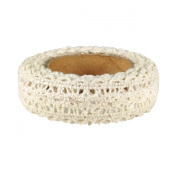 Wrapables Decorative Lace Tape, 270cm by 25mm, Beige