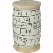 Tape Measure Cotton Ribbon on Wood Spool