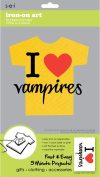 Sew Easy Industries 1-Sheet 'I Heart Vampires' Transfer, 14cm by 23cm