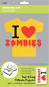 Sew Easy Industries 1-Sheet 'I Heart Zombies' Transfer, 14cm by 23cm