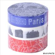 Japanese Washi Masking Tape Set of 3 - Mark's Japan Blue