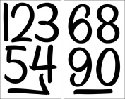 SEI 10cm Numbers Iron on Transfers, Black, 2 Sheet