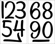 SEI 10cm Numbers Iron on Transfers, Black, 2 Sheet