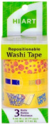 HIART Repositionable Washi Tape, Basketball Fun, Set of 3