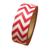 Dress My Cupcake Washi Decorative Tape for Gifts and Favours, Whimsy Chevron, Red
