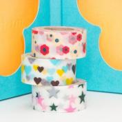 Japanese Washi Masking Tape -Mini Set of 3 kids tape set