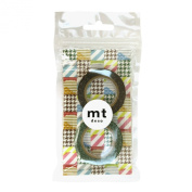 Masking tape 2 P [houndstooth