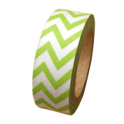 Dress My Cupcake Washi Decorative Tape for Gifts and Favours, Whimsy Chevron, Kiwi Green