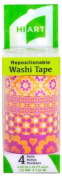 HIART Repositionable Washi Tape, Holiday Happiness, Set of 4