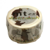 Masking tape (Squirrel and bear) tape 30mm Stacking mt ex