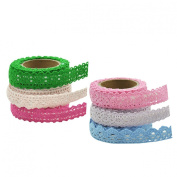 YazyCraft Lace Tape Assorted Colours 6 rolls
