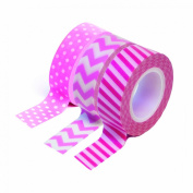 Dress My Cupcake DMC29217 Washi Decorative Tape for Gifts and Favours, Girl Baby Shower Collection, Set of 3