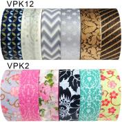 Wrapables Japanese Washi Masking Tape Collection, Premium Value Pack