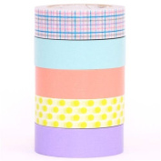 pastel mt Washi Masking Tape deco tape set 5pcs box