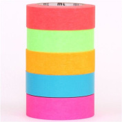 neon mt Washi Masking Tape deco tape set 5pcs box