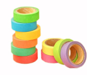 Set of 10 [Solid Candy] Adhesive Tape Masking Tape Washi Tape Many Colours