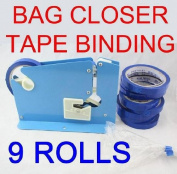 Bag Closer, Neck Closer, Taper, Binder, Bag Sealer, Neck Sealer, + Extra 8 Rolls of Tapes.