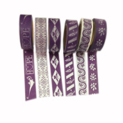 Set of 6 [Purple Love] Tear-off Tape Masking Tape Washi Tape Handcraft MT