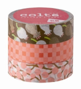 Masking tape Corte pattern pink lily of the Valley volume 3 with CT016