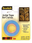 3M Scotch Artist Tape for Curves 0.3cm . x 10 yd. [PACK OF 6 ]