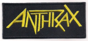 ANTHRAX (American thrash metal gold logo patch) 10x4.3 Cm Iron on Patch / Embroidered Patch This Appliques Are Great for T-shirt, Hat, Jean ,Jacket, Backpacks.