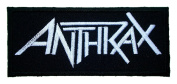 Anthrax patches 9.9x4.2 cm Iron on Patch / Embroidered Patch This Appliques Are Great for T-shirt, Hat, Jean ,Jacket, Backpacks.