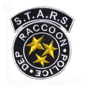 Details about STARS Resident Evil Raccoon Iron on Patch 6.5x8cm / Embroidered Patch This Appliques Are Great for T-shirt, Hat, Jean ,Jacket, Backpacks.