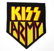 kiss patches 7x8.5 cmIron on Patch / Embroidered Patch This Appliques Are Great for T-shirt, Hat, Jean ,Jacket, Backpacks.
