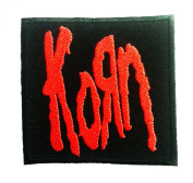 Korn patches 7.4x7 cm Iron on Patch / Embroidered Patch This Appliques Are Great for T-shirt, Hat, Jean ,Jacket, Backpacks.