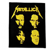 METALLICA patches 6.2x7.6 cm Iron on Patch / Embroidered Patch This Appliques Are Great for T-shirt, Hat, Jean ,Jacket, Backpacks.