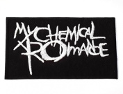 my chemical romance patches 8.5x4.7 cm Iron on Patch / Embroidered Patch This Appliques Are Great for T-shirt, Hat, Jean ,Jacket, Backpacks.