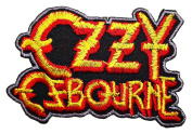 Ozzy Osbourne patches 9x5.9 cm Iron on Patch / Embroidered Patch This Appliques Are Great for T-shirt, Hat, Jean ,Jacket, Backpacks.
