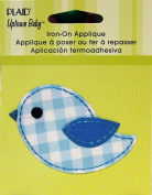 Uptown Baby 34530 Printed Fabric Iron on Appliques, Small, Blue Birdie